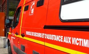 Illustration d'une ambulance de pompiers.