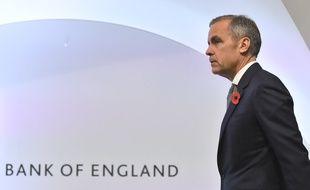 Le patron de la Banque d'Angleterre (BoE), Mark Carney, à Londres, le 1er novembre 2018.