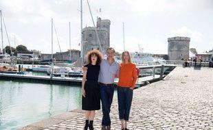 Blandine Bellavoir, Samuel Labarthe et Elodie Frenck, le trio de « Les petits meurtres d'Agathe Christie ».