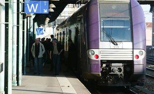 Photo d'illustration d'un TER en gare de Perrache à Lyon.