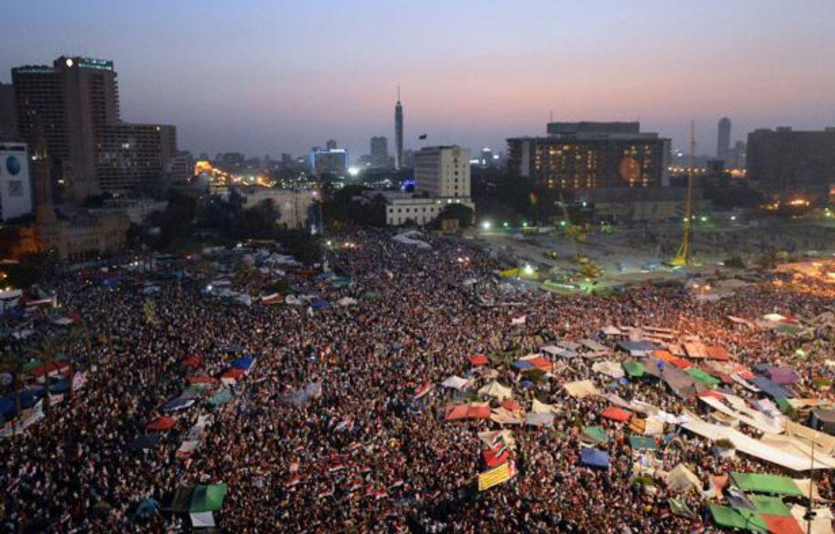 La place Tahrir, au Caire, le 24juin 2012. – KHALED DESOUKI / AFP