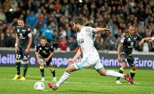 André-Pierre Gignac a inscrit sur penalty son 5e but de la saison en Ligue 1 dimanche au Vélodrome.