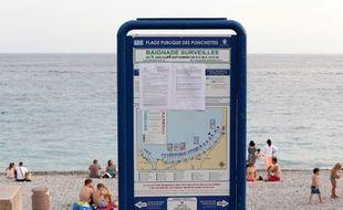 Sur la plage de Nice, l'arrêté interdisant le port du burkini.