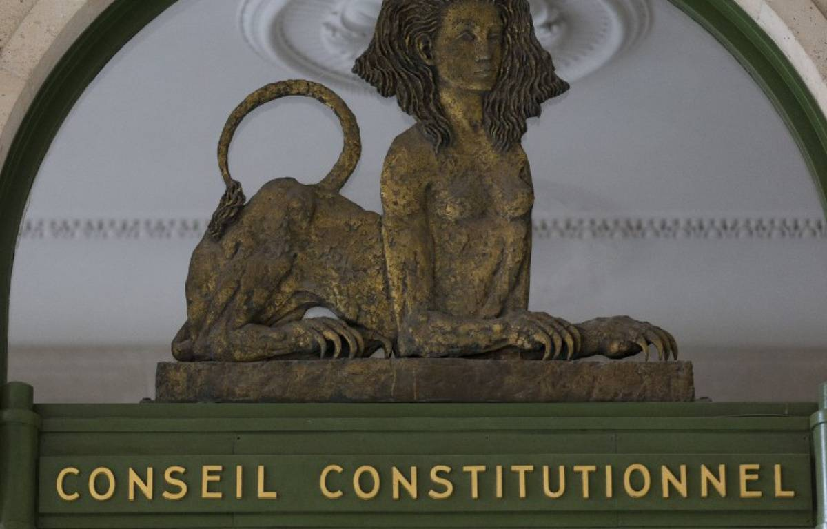 Le Conseil constitutionnel – KENZO TRIBOUILLARD / AFP