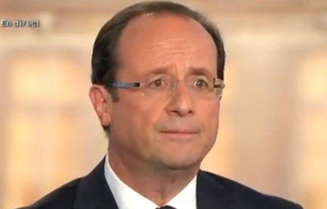 François Hollande sur le plateau de «2012. Le débat», le mercredi 2 mai 2012.