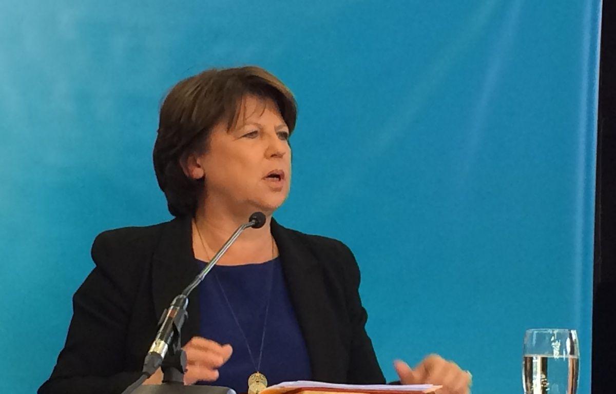 Martine Aubry, le 23 septembre 2015 à Lille – O. Aballain