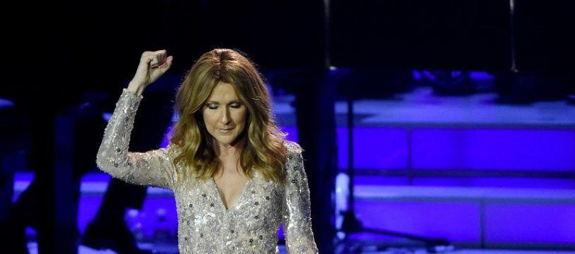 La chanteuse Céline Dion sur la scène du Colosseum à Las Vegas.