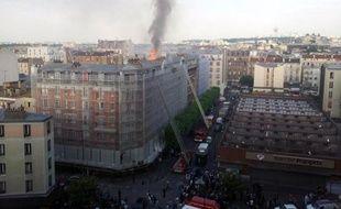 L'incendie d'un immeuble dans le centre d'Aubervilliers, le 7 juin 2014, a fait trois morts, trois blessés graves et 14 blessés légers