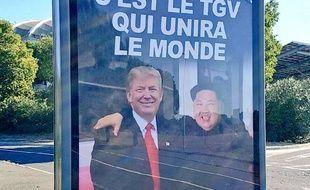 Le photomontage diffusé dans les rues de Béziers.