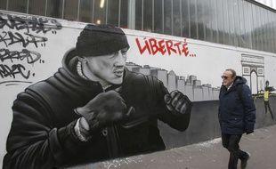 Une fresque en soutien à l'ancien boxeur Christophe Dettinger.