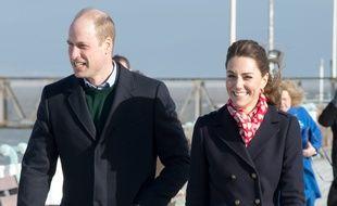 Le prince William et son épouse Kate, duchesse de Cambridge