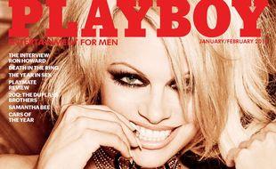 Pamela Anderson en Une du numéro de «Playboy» de janvier/février 2016.