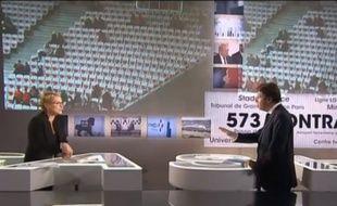 Elise Lucet et Christian Estrosi durant leur échange houleux sur le plateau de «Cash Investigation», mardi 18 octobre.