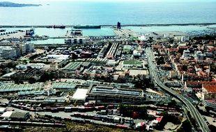 Une vue aérienne des Fabriques