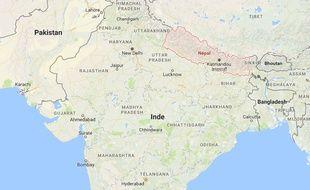 Localisation du Népal