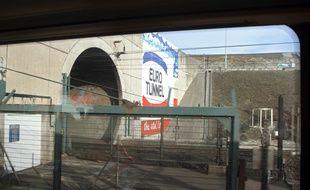L'entrée du tunnel sous la Manche, à Coquelles (Pas-de-Calais).