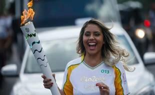 La flamme olympique, le 15 juin 2016, à Belem, au Brésil