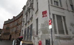 La Bourse du Travail de Toulouse qui abrite l'Union départementale CGT