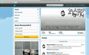 Le professeur blogueur @MonsieurLeProf s'astreint à ne pas suivre ses élèves sur Twitter.