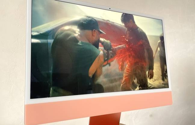 Le film de Jack Snyder Army of the Dead sur Netflix comme test image et son pour le nouvel iMac.