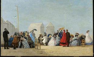 «Plage aux environs de Trouville» 1864 Huile sur toile 67,5 x 104 cm Toronto, Art Gallery of Ontario, Musée des Beaux-Arts de l'Ontario – Anonymous Gift, 1991