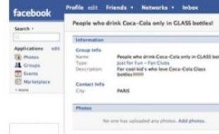 L'interface Facebook