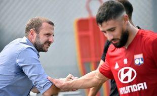 Florian Maurice, ici avec Nabil Fékir en 2018, va quitter l'OL pour le Stade Rennais.