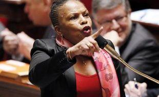 Christiane Taubira à l'Assemblée nationale le 5 février 2014 à Paris