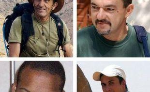 """Les familles des quatre otages français enlevés par Aqmi au Niger en septembre 2010 ont rappelé lundi dans un communiqué attendre """"avec impatience"""" leur libération à l'occasion de leurs 500 jours de détention"""