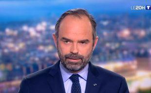 Edouard Philippe est au 20 Heures de TF1, le 7 janvier 2019.