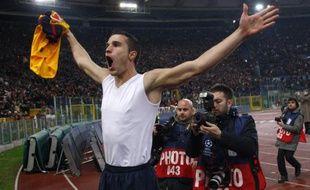 L'attaquant d'Arsenal, Robin Van Persie, le 11 mars 2009 à Rome.