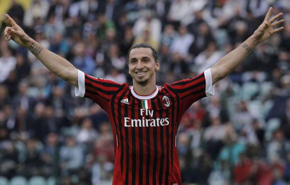 Zlatan Ibrahimovic contre Sienne, le 29 avril 2012. – Peolo Lazzeroni/AP/SIPA