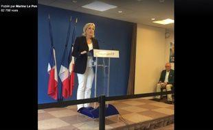 Conférence de presse de Marine Le Pen, le 16 juillet 2016.