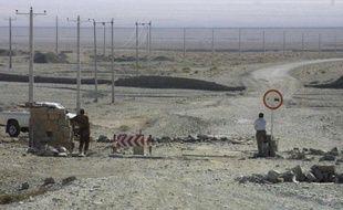 Sodats iraniens le long de la frontière dans la région de Zahedan