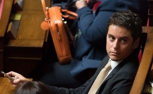 Gabriel Attal , le 13 juin 2018 à l'Assemblée nationale.