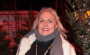 Valérie Damidot, le 14 janvier 2015, à l'Alpe-d'Huez.