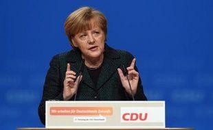 La chancelière allemande Angela Merkel, lors du congrès de la CDU, le 9 décembre 2014 à Cologne