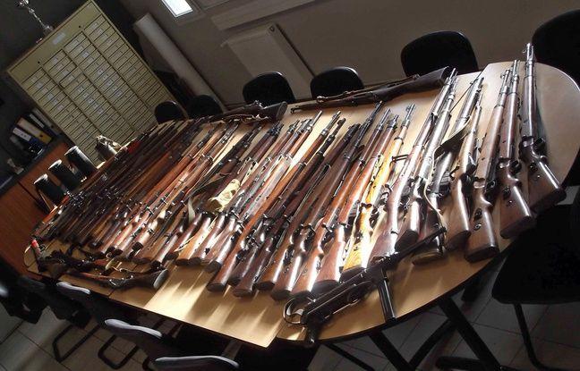 Les armes ont été découvertes chez un particuliers.
