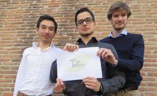 Maxime, Timothée et Victorien, les trois étudiants toulousains créateurs du chewing-gum TriTree.