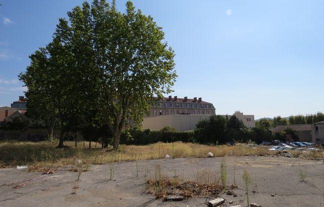 Le terrain où devrait être construit le nouveau TGI d'Aix-en-Provence