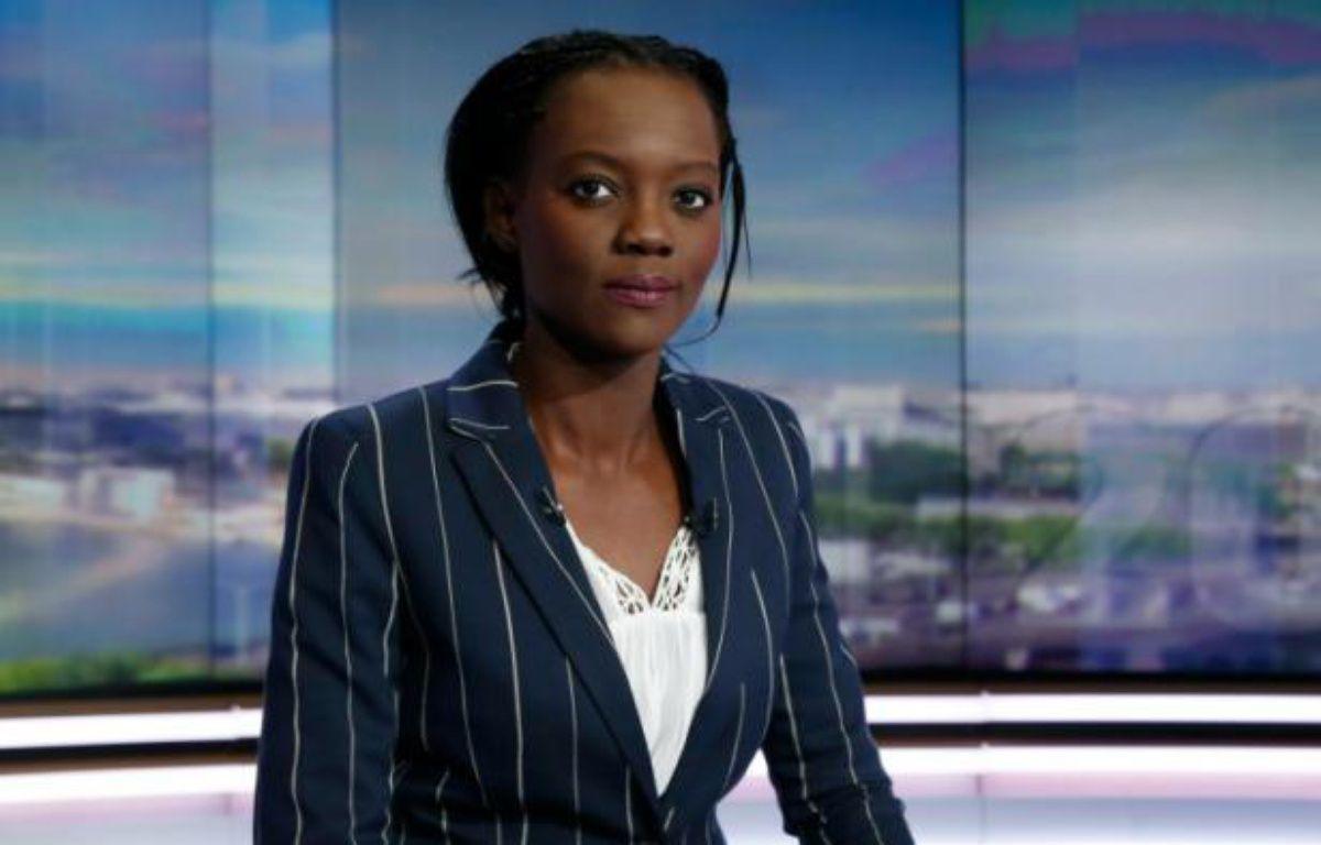 Rama Yade sur le plateau de TF1 le 21 avril 2016 à Paris – THOMAS SAMSON AFP