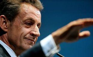 Le président du parti Les Républicains Nicolas Sarkozy à Reims, le 23 septembre 2015.