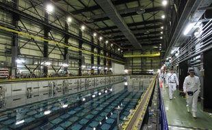 L'un des quatre bassins d'entreposage du combustible à La Hague (Manche).