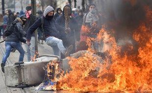 Débordements et affrontements lors de la manifestation à Nantes.