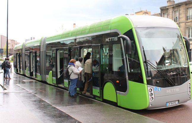 La capacité d'un bus à haut niveau de service, comme ici le Mettis qui circule à Metz, est de 155 personnes