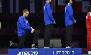 Voilà un geste que l'on ne devrait pas voir lors des prochains Jeux de Tokyo.