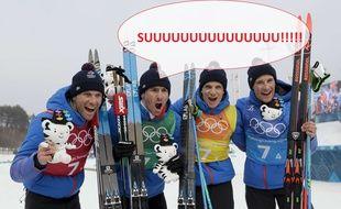 Le relais français de ski de fond a décroché le bronze, dimanche