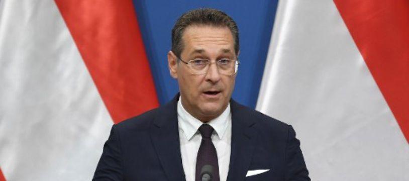 Le vice-chancelier et chef du parti d'extrême droite autrichien FPO, Heinz-Christian Strache, le 6 mai 2019 lors d'une conférence de presse.