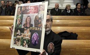 Yves Mougel, le père de Natacha, lors du 1er jour du procès de son meurtrier préumé, Alain Penin aux assises de Douai.
