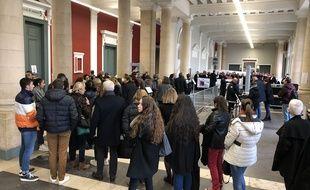 Amiens, le 05 décembre 2019. Le public est nombreux pour assister au procès de l'affaire Elodie Kulik.